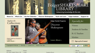 Main page conjures connections between classic and modern interpretations.