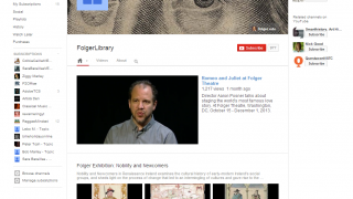 The Folger Library's YouTube channel is a popular place for analysis, teaching applications, and more.