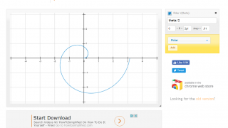 Graphs of polar equations are quick and easy to make.