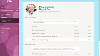 Parent accounts allow for parents or guardians to view their child's progress and add comments.