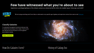 Kids can analyze high-quality images of space.