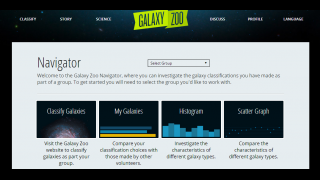 The Navigator lets kids compare their results and create graphs to analyze data.