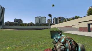 Use the axis tool to connect an arm to an anchor to make a simple rocket-powered watermelon catapult.
