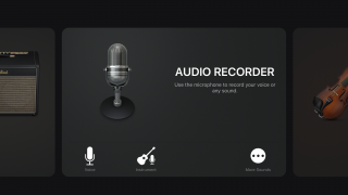 Scroll through Tracks to find the Instruments and Audio Recorder features.