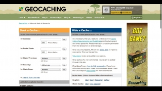 Kids can search for nearby geocaches in a variety of ways.