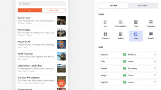 Styling the layout of the app is effortless.