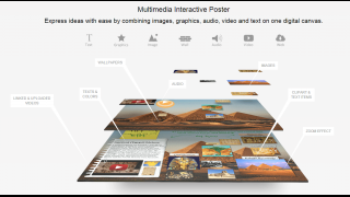 Use this tool to create interactive multimedia posters.