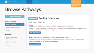 CCSS are organized by grade level; most grades currently offer 1 or 2 Pathways for some math domains and ELA strands.