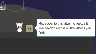 A player's goal is to save the cats.