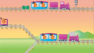 Notice the differences between train cars and make the cars match up.