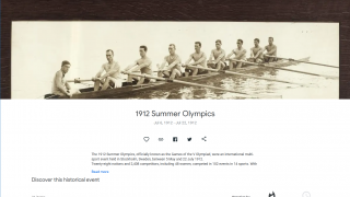 Some resources are grouped into historical event pages.