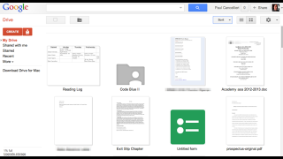 Drive's interface is similar to many other Google products.