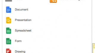 Drive provides many document types.