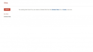 The opening interface for Google Sites is spare and simple.