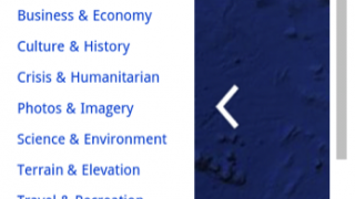 Earth Gallery with special maps in seven categories still a bit buggy.