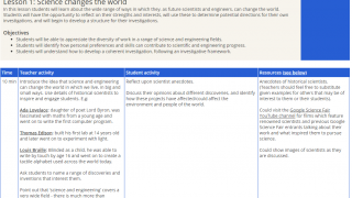 Teacher lessons plans provide activities to build inquiry skills.
