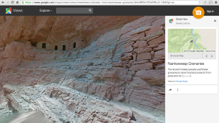Selected images become the main page, with an information bar to the right.