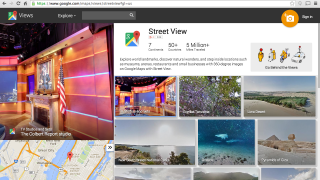 Google's Street View collection is the most robust for educational purposes.