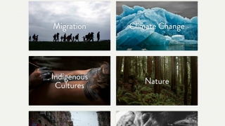 Browse thematic collections on topics like migration, climate change, and inspiring people. Each collection has a series of films, photo essays, articles, or virtual reality.