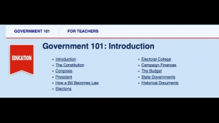 The site also provides a basic overview of the U.S. Government.