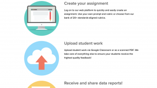 Create an assignment, upload student work, and view reports on student performance.