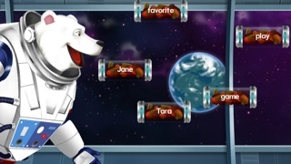 The space bear must eat the correct answer.