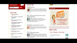 The Quick and Dirty Tips site also features advice on pets, health, and other topics.