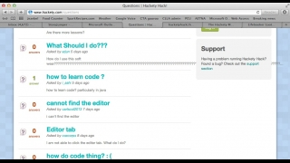 Users can also ask questions on the site, which other users may respond to.