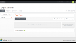 Class pages can include various types of content and stay organized by published view.