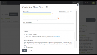 Creating new classes is easy.