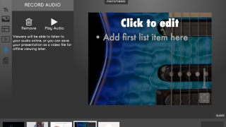 Add audio to slides.