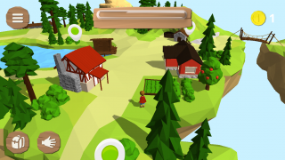 Characters move in and out of the different buildings to complete activities and earn coins.