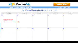 View your daily schedule for an entire week.