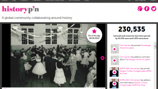 Historypin's home page.