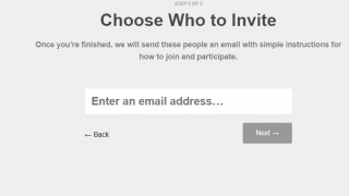 After setting up the class, invite users by email or send out a code to join.