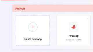 Your project library is where you can see what you've already made or create something new.