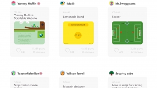 Share and browse projects on the Hopscotch community board.
