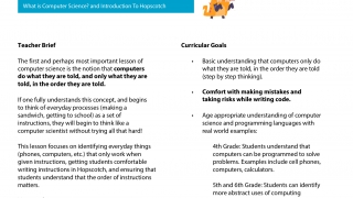 Lesson plans introduce programming and easily tie together multiple underlying learning principles.