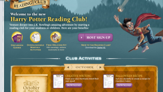 Site design has that slightly spooky Harry Potter flair.