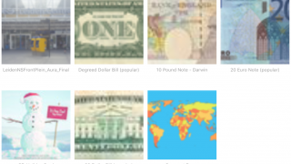 Users can discover collections of Auras (again, blurry in thumbnails) and follow them.