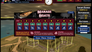 Deploy boats to confront the British fleet.
