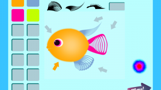 Rewards give players options to change their fish's colors and fin types.