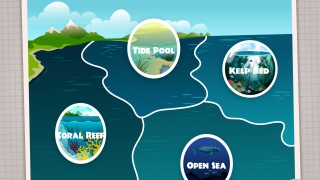 Kids can explore and build a biodome in four ocean habitats.