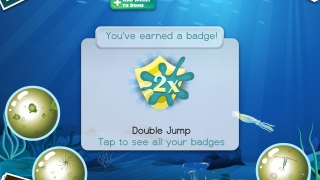 There are badges for completing tasks and experimenting with the biodomes.