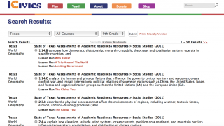 Teachers can browse which lessons, games, and resources align with skills by state and grade level.