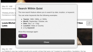 Quist lets users explore historical events related to the LGBTQ community.