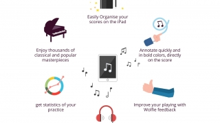 Piano Practice With Wolfie is a digital tool for supporting piano study.