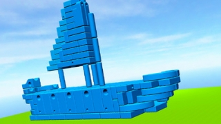 Kids can use blocks to build structures like ships.