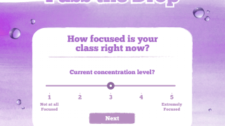 """The app begins and closes with the question """"How focused is your class?"""""""