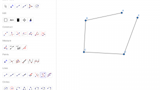 There are a variety of tools for drawing geometric constructions.